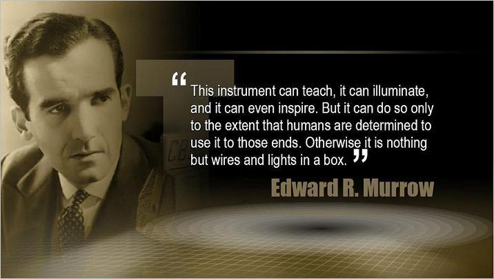 1 EDWARD R. MURROW