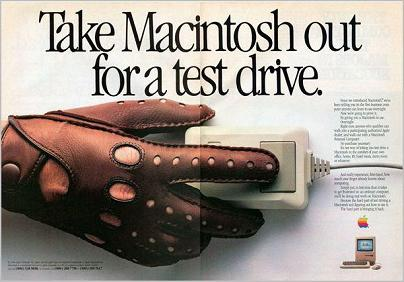 Test Drive a Mac 1984 ad