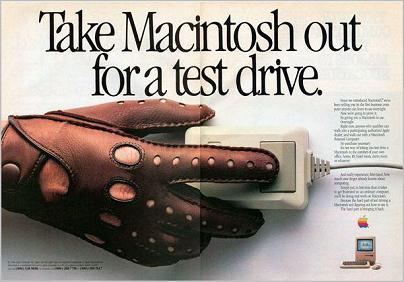 Test Drive a Mac 1984 ad
