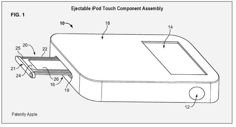 FUTURE IPOD TOUCH EJECTABLE COMPONENT ASSEMBLY FIG 1