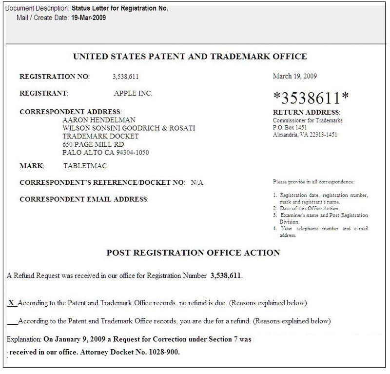 3 - post registration offic action