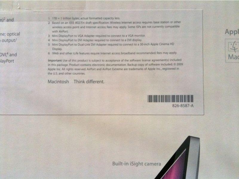 Apple's trademark speciman