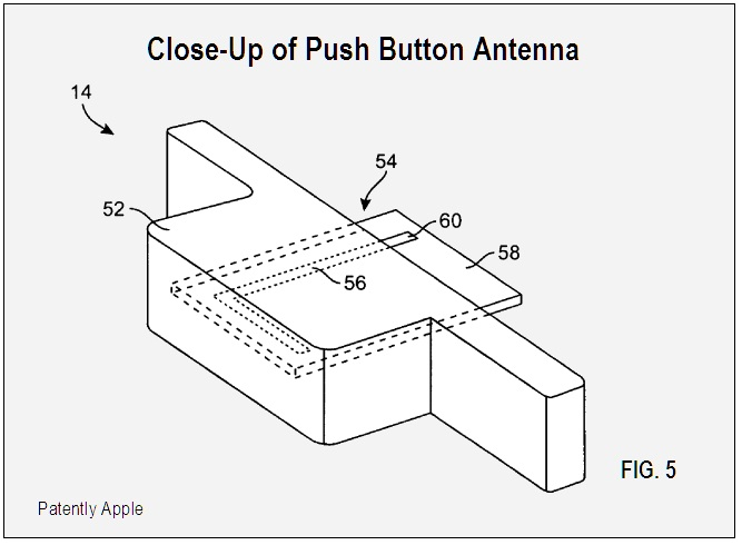 Close up of Push Button Antenna