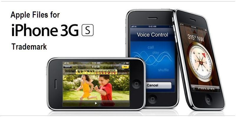 3G S Trademark filing, Apple