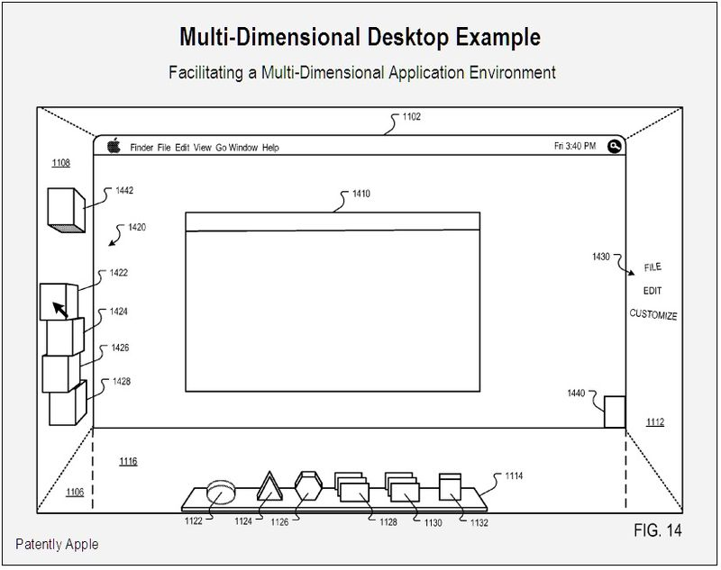 Multidimensional desktop - multidimensional application enviroment