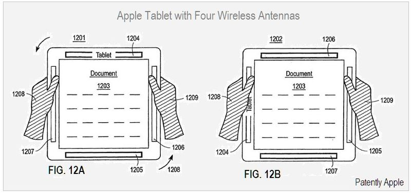Apple Tablet, Four Wireless Antennas