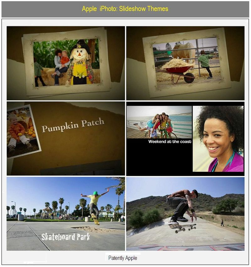 Apple iPhoto Slideshow Themes
