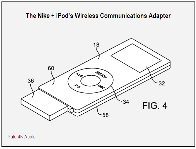 Nike + iPod wireless communications adapter