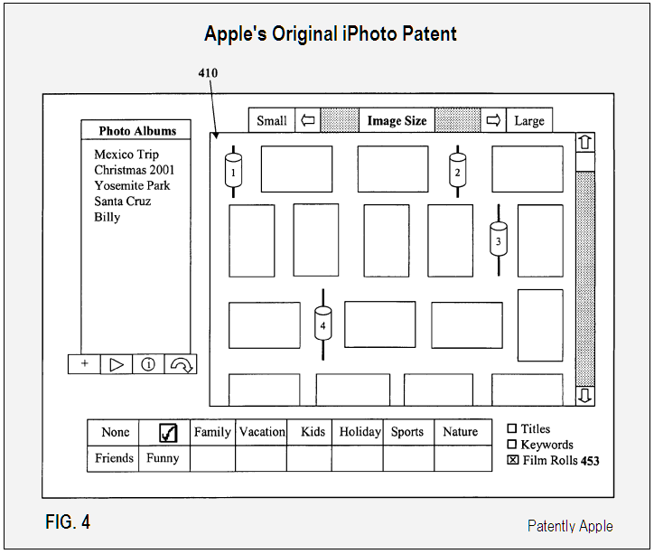 Apple's Original iPhoto Patent FIG. 4