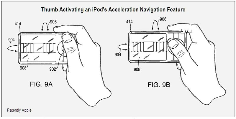 THUMB ACTIVATION - ACCELERATION NAVIGATION FEATURE