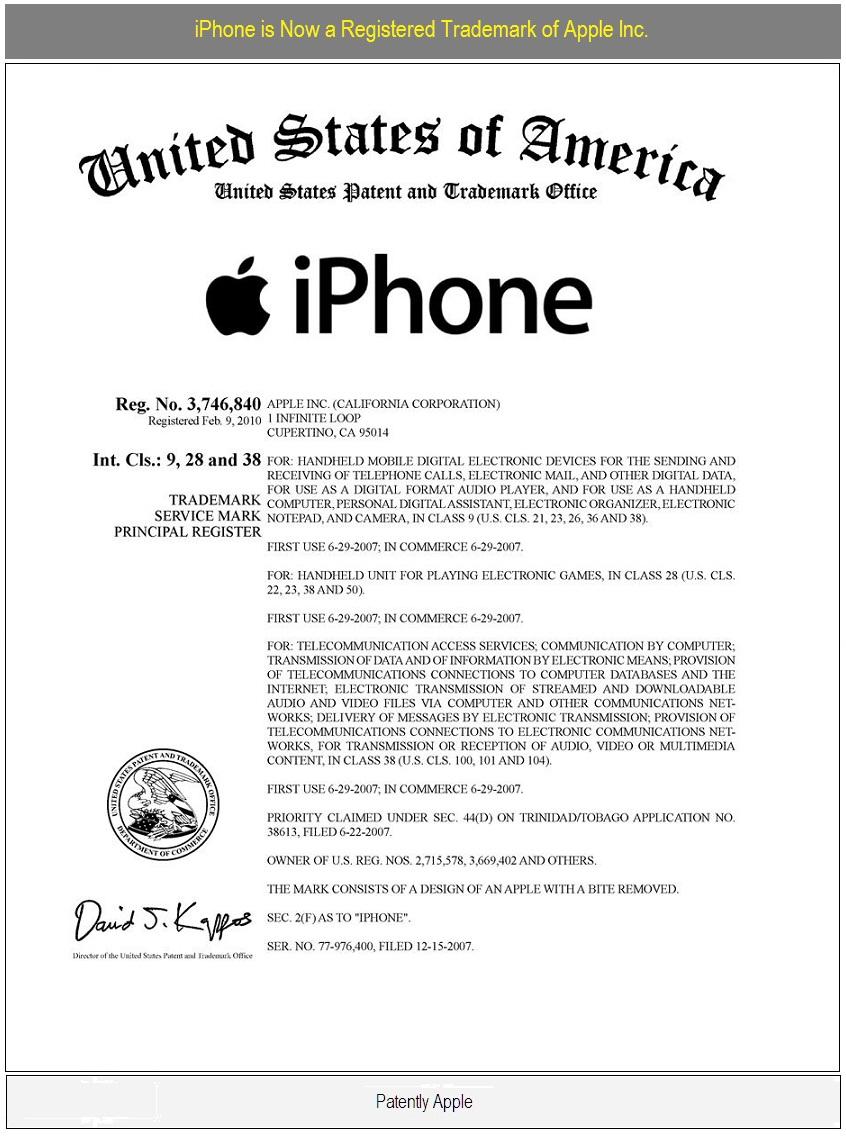 Iphone logo now a registered trademark of apple inc iphone registered trademark of apple inc feb 10 2010 buycottarizona