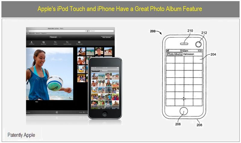 IPOD, IPHONE PHOTO ALBUMS FEATURE