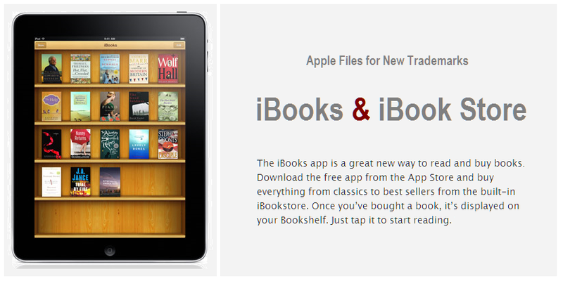 COVER - IBOOKS & IBOOK STORE TRADEMARKS
