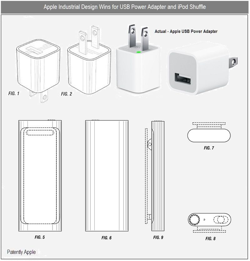 3 - INDUSTRIAL DESIGN WINS - usb power adapter, iPod shuffle