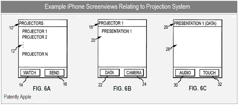 6 - EXAMPLE IPHONE SCREENVIEWS - PROJECTOR SYSTEM