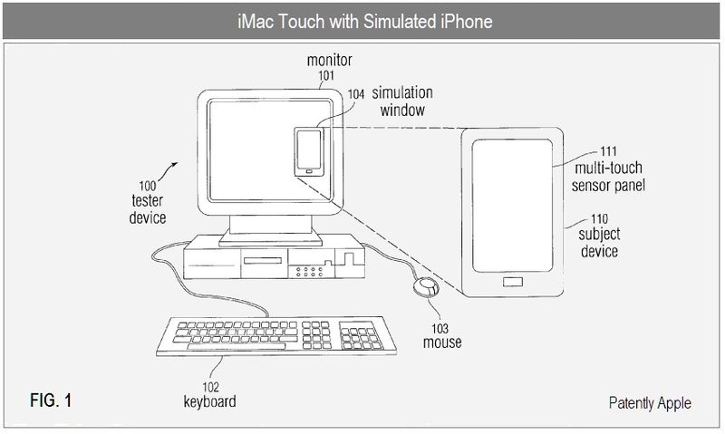 TOUCH IMAC WITH SIMULATED IPHONE