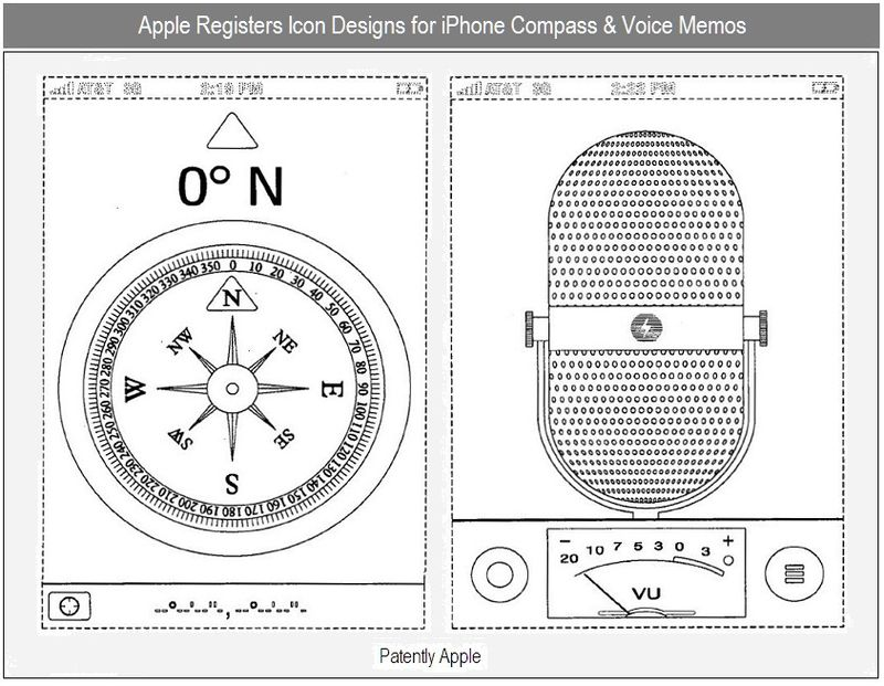 2 - iPhone iCons for Compass & Voice Memos