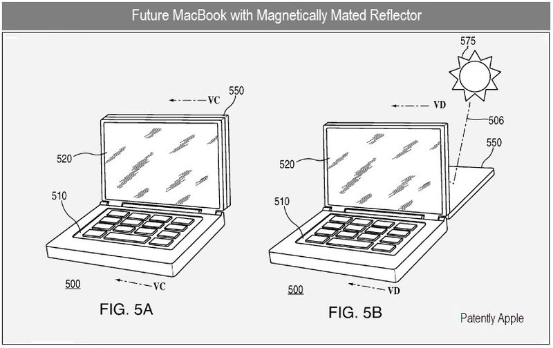 3 - MACBOOK WITH MAGNETICALLY MATED REFLECTOR