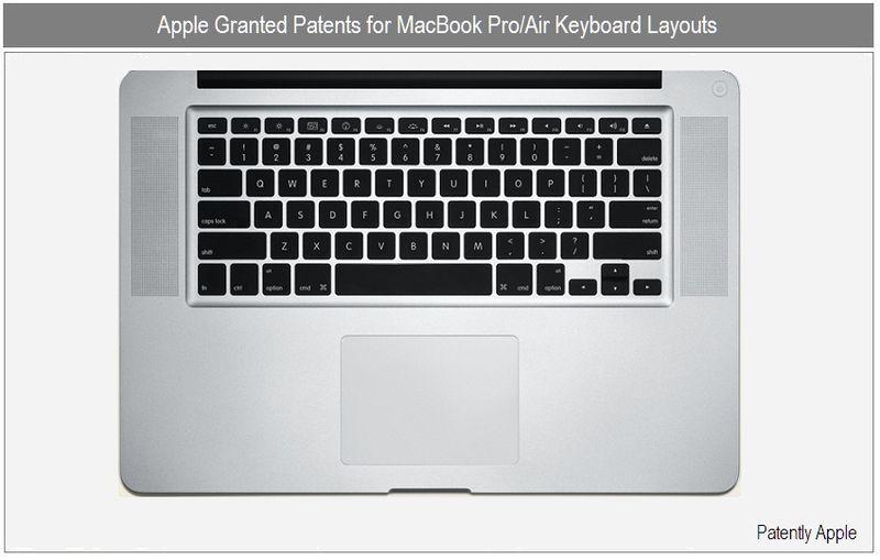 Apple Industrial Design Wins: MacBook Pro/Air Keyboard