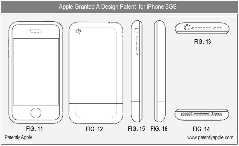2 - IPHONE 3GS - GRANTED PATENT - APR 13, 2010