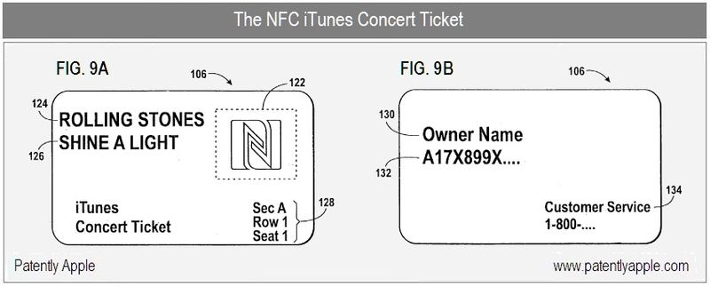 5 - The NFC iTunes CONCERT TICKET