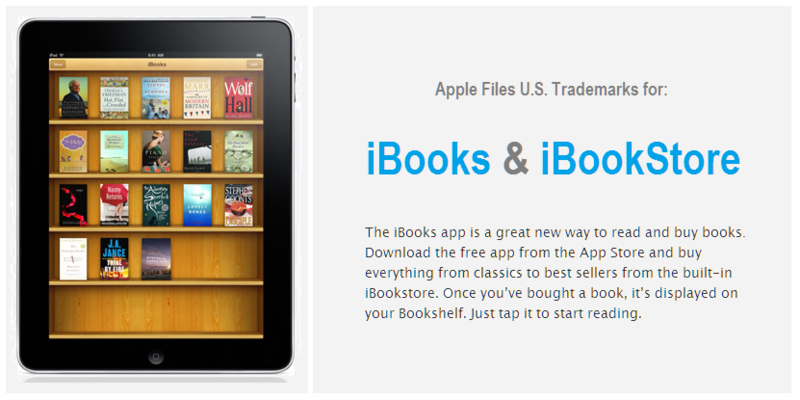1 - COVER - IBOOKS & IBOOKSTORE US TRADEMARKS