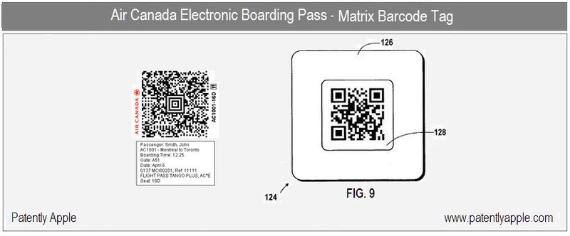 4 - Air Canada Electronic Boarding Pass - Matrix Barcode tag