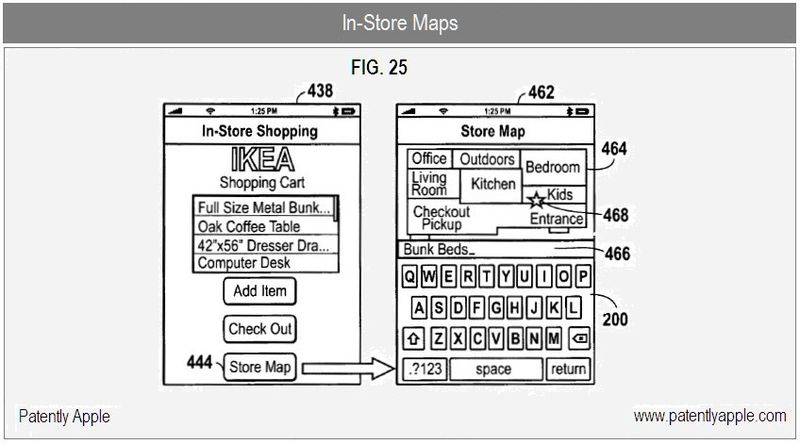 11 - Apple Inc Shopping App, FIG. 25 - In-Store Maps