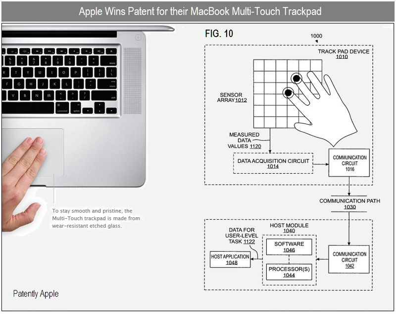 4 - Apple Inc, patent win for macbook multi-touch trackpad, fig 10
