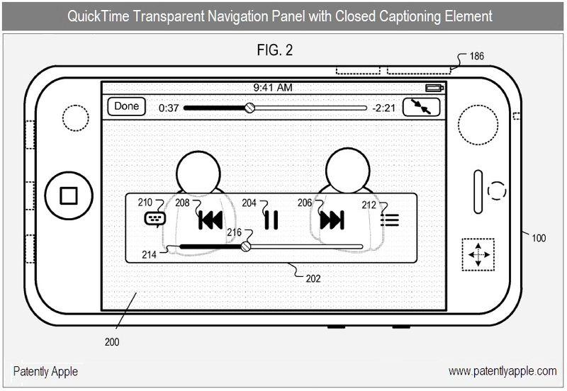 2 - Apple Inc, QT with closed captioning element in transparent panel #210