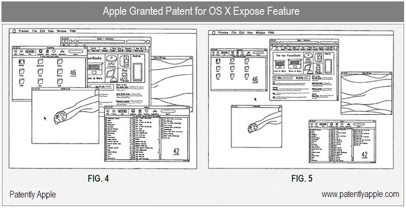 2 - Apple Inc, OS X Expose Feature - granted patent June 2010