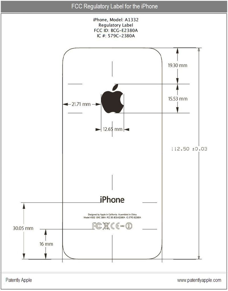 3 - FCC regulatory label for iPhone 4