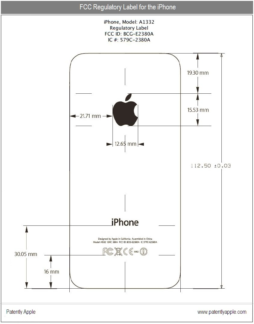 Apple tells fcc theres more to the iphone than the public knows 3 fcc regulatory label for iphone 4 ccuart Images
