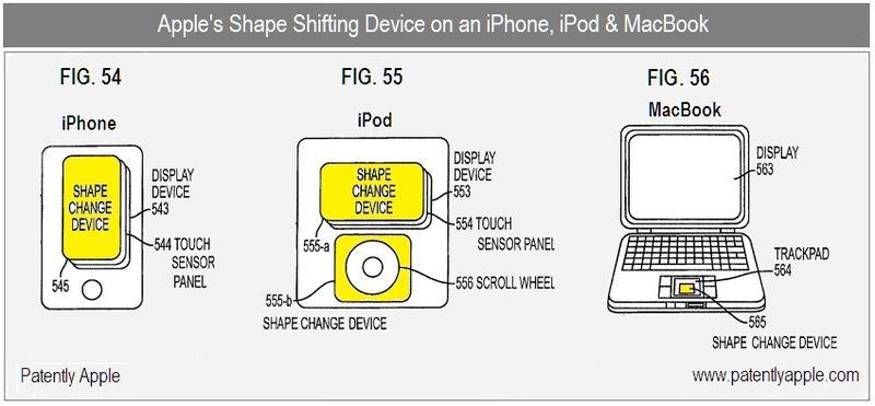 2 - Apple Inc, Shape Shifting Device, figs 54, 55, 56