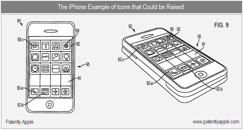 5 - Apple Inc, iPhone with raised icon example fig 9