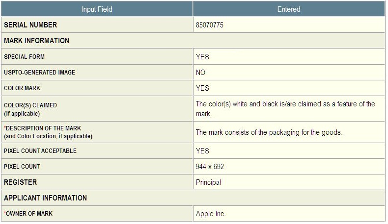 2 - Apple Inc, iPhone 4 packaging Application in part for TM