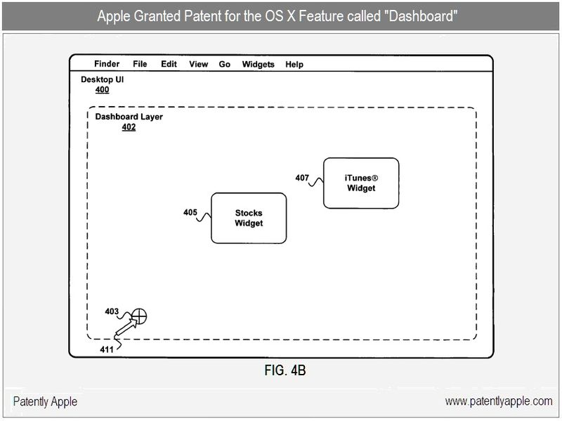 3 - Apple Inc, Granted Patent for Dashboard - OS X Feature, fig 4b