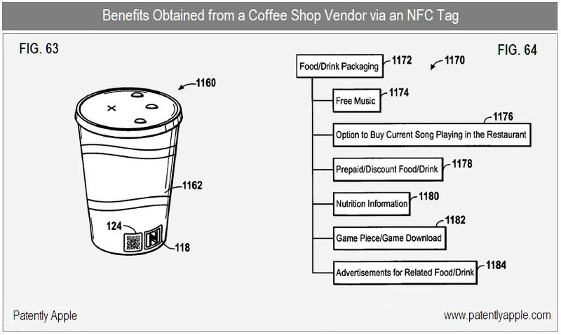 4 - coffee vendor - benefits on NFC label located on cup