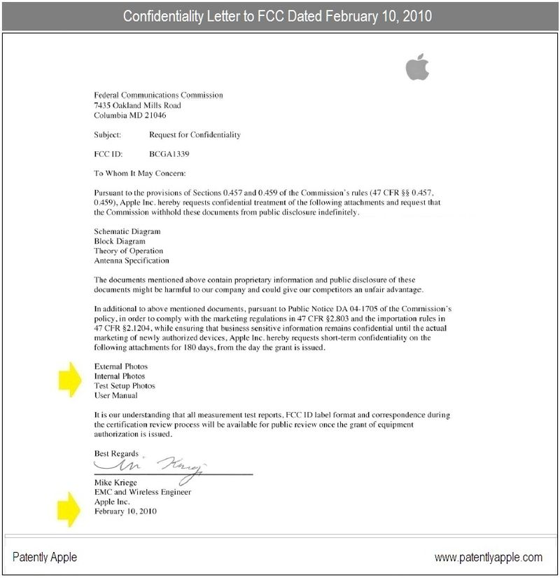 5 - confidentiality letter and date. August 10 2010 that confidentiality ends