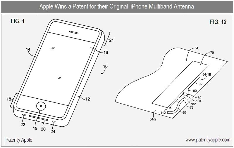 4 - Apple Inc, multiband antenna, patent granted