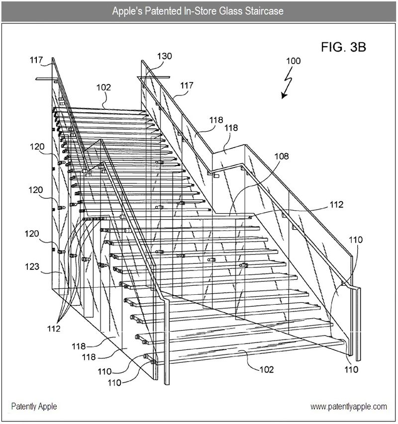 5 - Apple's patented in-store glass staircase - 2007