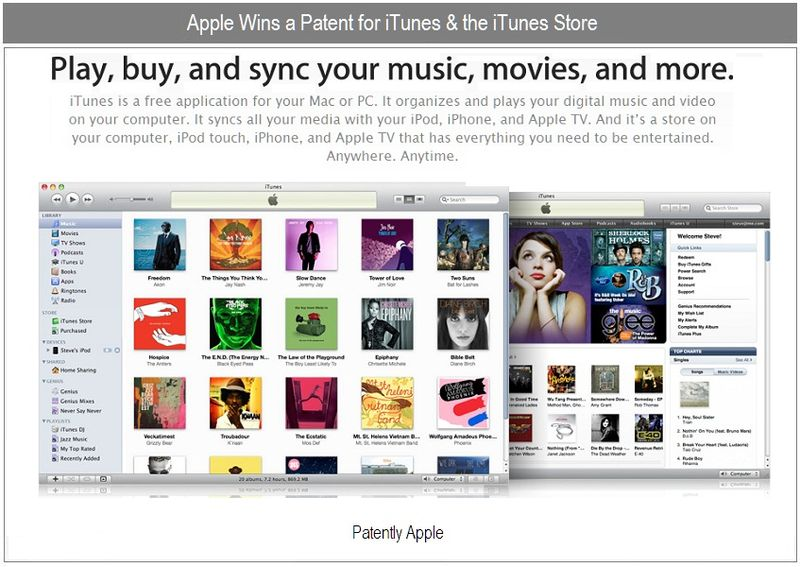 1 Cover - Apple wins patent for iTunes and iTunes Store aug 2010