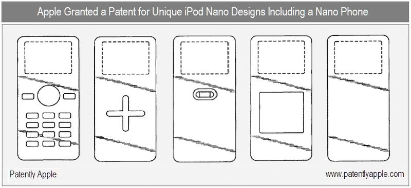 3 - Apple Inc Granted Patent for Unique iPod Nano Designs Incl iPhone Nano