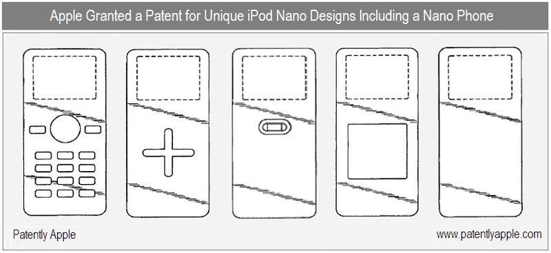 3 - Apple Inc Granted Patent for Unique iPod Nano Designs Incl iPhone Nano