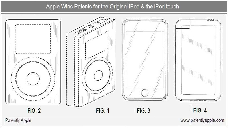 2 - Apple Inc, Granted Patents for the original ipod, iPod touch
