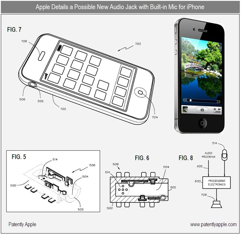 2 - possible new iPhone audio jack with microphone - apple