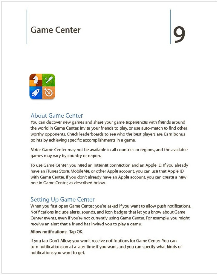GAME CENTER PAGE 1