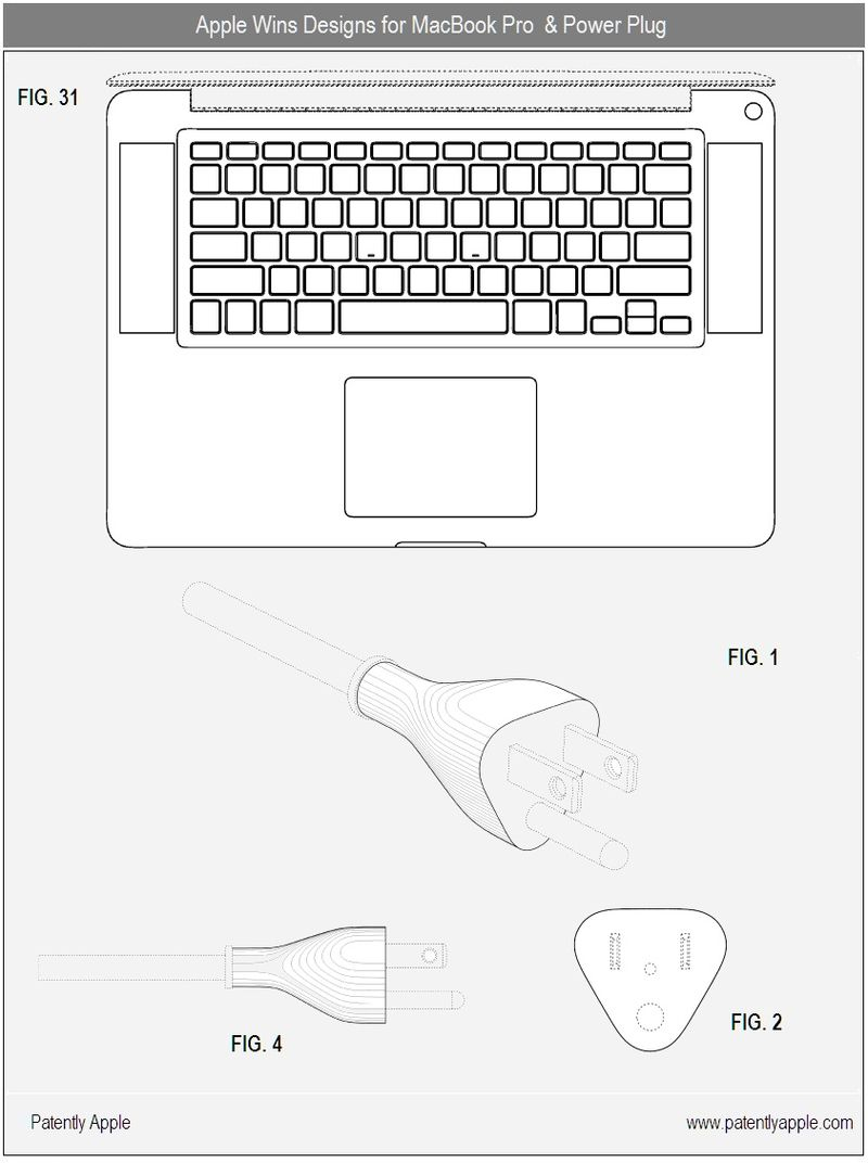 3 - Apple wins designs for MacBook Pro, All sizes & Power Plug