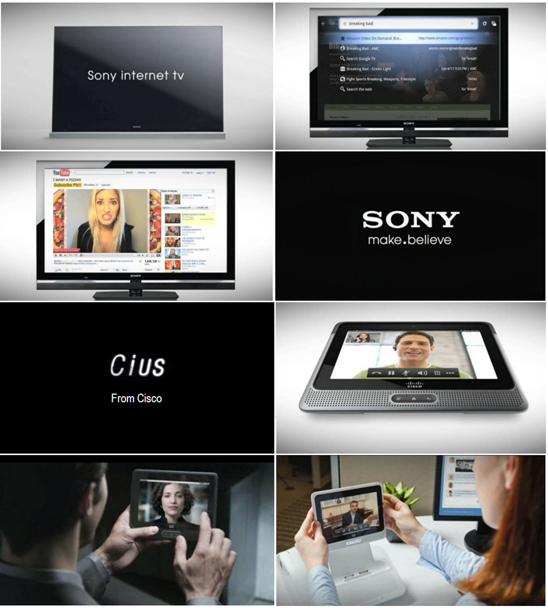SONY GOOGLE TV + CISCO CIUS TABLET ON ATOM