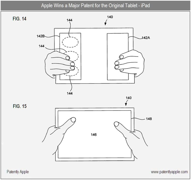 3 - Apple Tablet figs 14 and 15 - sept 21, 2010 - apple granted patent
